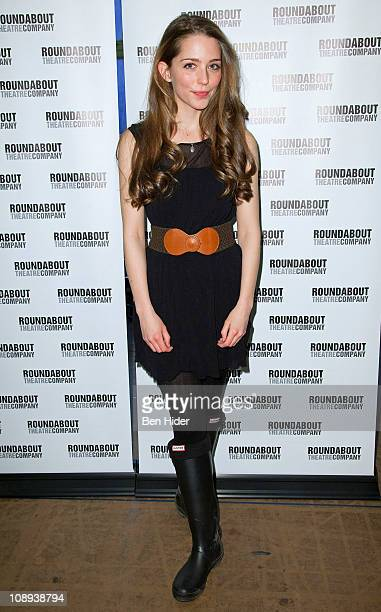 Actress Jessica Rothenberg attends 'The Dream of the Burning Boys' Broadway cast photocall on February 9 2011 in New York City