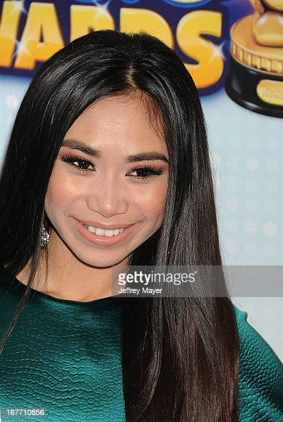 Actress Jessica Sanchez arrives at the 2013 Radio Disney Music Awards at Nokia Theatre LA Live on April 27 2013 in Los Angeles California