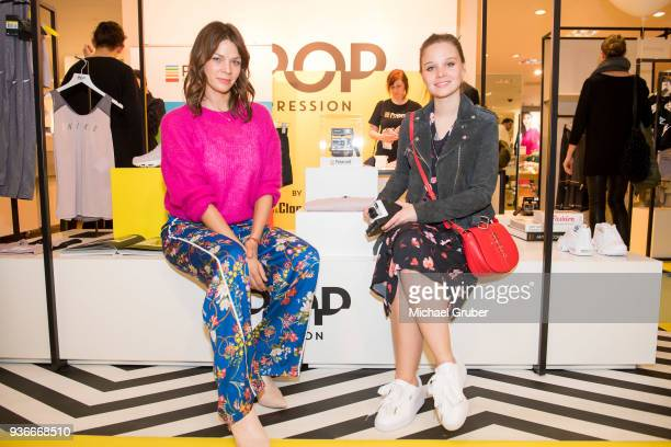 Actress Jessica Schwarz and Actress Sonja Gerhardt during the Launch POP event on the occasion of the 20th anniversary of the Peek Cloppenburg store...