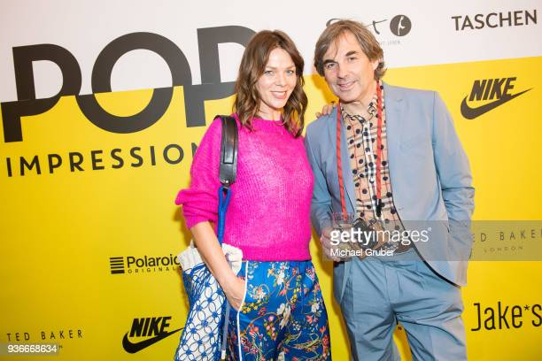 Actress Jessica Schwarz and Skiracer Hubertus von Hohenlohe during the Launch POP event on the occasion of the 20th anniversary of the Peek...