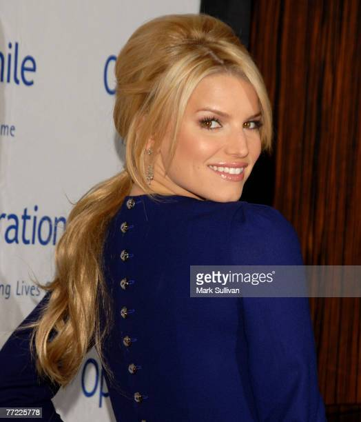 Actress Jessica Simpson arrives at Operation Smile's 25th Annual Gala held in Beverly Hills, California on October 5, 2007.