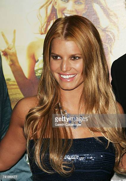 Actress Jessica Simpson attends a party promoting the movie 'Major Movie Star' during the 60th International Cannes Film Festival on May 18 2007 in...