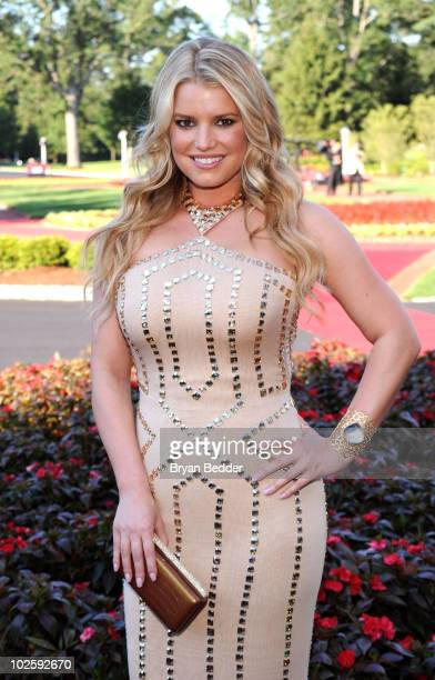Actress Jessica Simpson attends the grand opening of the Casino Club at The Greenbrier on July 2 2010 in White Sulphur Springs West Virginia