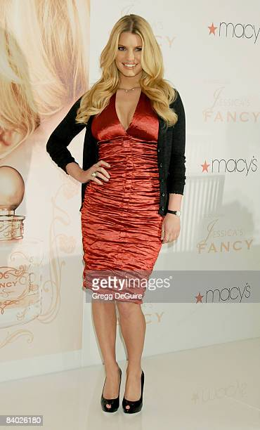 """Actress Jessica Simpson Launches Her New Fragrance """"Fancy"""" on December 13, 2008 in Costa Mesa, California."""