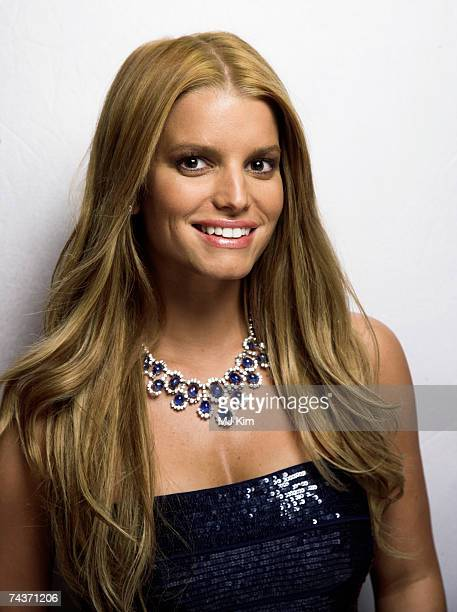 Actress Jessica Simpson poses for a portrait shoot while attending Cannes Film Festival on May 18 2007 in Cannes France