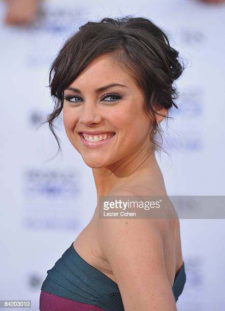 Actress Jessica Stroup arrives at the 35th Annual People's Choice Awards held at the Shrine Auditorium on January 7 2009 in Los Angeles California