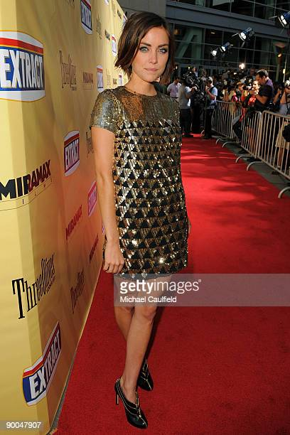 """Actress Jessica Stroup arrives at the Los Angeles premiere of """"Extract"""" held at the ArcLight Hollywood on August 24, 2009 in Hollywood, California."""