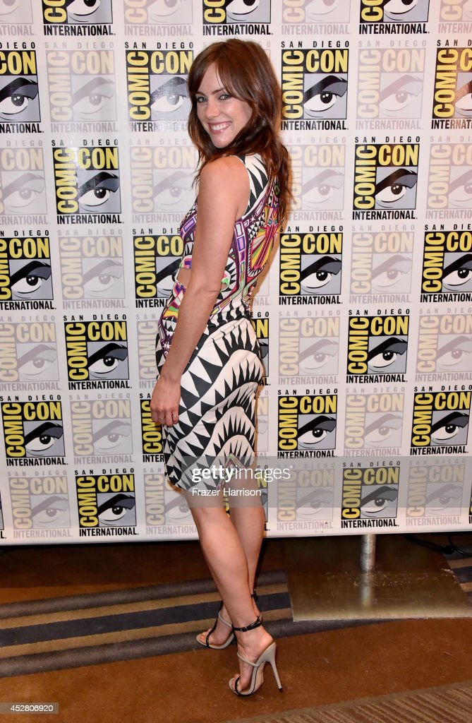 Actress Jessica Stroup attends FOX's 'The Following' press line during Comic-Con International 2014 at Hilton Bayfront on July 27, 2014 in San Diego, California.