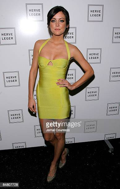 Actress Jessica Stroup attends Herve Leger Fall 2009 show during MercedesBenz Fashion Week at The Promenade in Bryant Park on February 15 2009 in New...