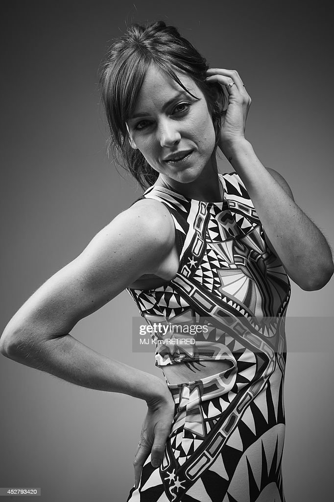 Actress Jessica Stroup poses for a portrait at the Getty Images Portrait Studio Powered By Samsung Galaxy at Comic-Con International 2014 at Hard Rock Hotel San Diego on July 27, 2014 in San Diego, California.