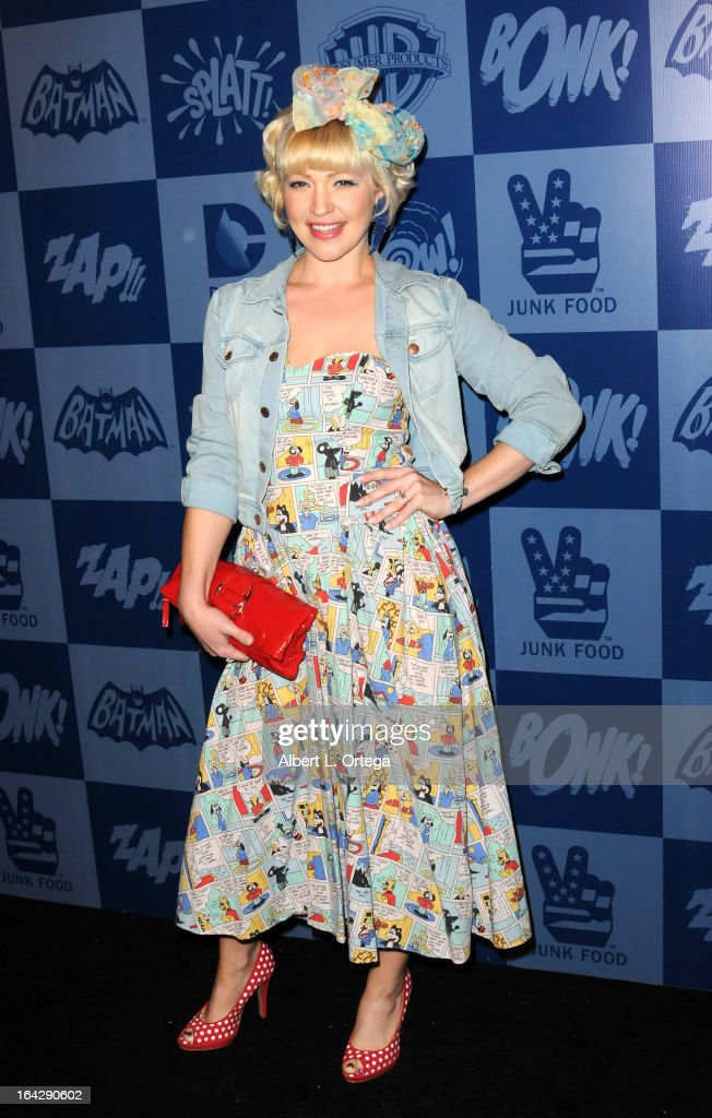 Actress Jessica 'Sugar' Kiper attends the Warner Bros. Consumer Products And Junk Food Celebrate The Launch Of The Batman Classic TV Series Licensing Program held at Meltdown Comics and Collectibles on March 21, 2013 in Hollywood, California.