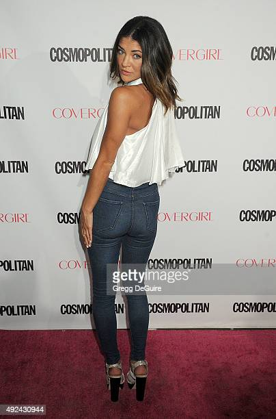 Actress Jessica Szohr arrives at Cosmopolitan Magazine's 50th Birthday Celebration at Ysabel on October 12 2015 in West Hollywood California