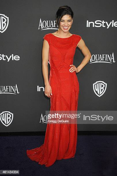 Actress Jessica Szohr arrives at the 16th Annual Warner Bros And InStyle PostGolden Globe Party at The Beverly Hilton Hotel on January 11 2015 in...