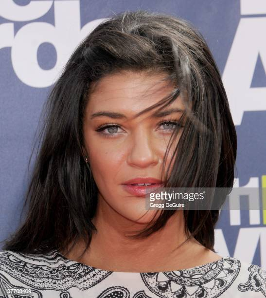Actress Jessica Szohr arrives at the 2011 MTV Movie Awards at the Gibson Amphitheatre on June 5 2011 in Universal City California