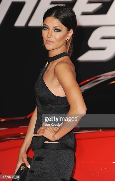 Actress Jessica Szohr arrives at the Los Angeles Premiere 'Need For Speed' at TCL Chinese Theatre on March 6 2014 in Hollywood California