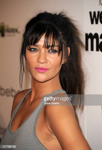 Actress Jessica Szohr arrives at the premiere of IFC Films' Love Wedding Marriage held at the Pacific Design Center on May 17 2011 in West Hollywood...