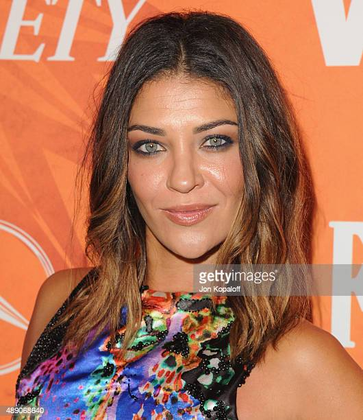Actress Jessica Szohr arrives at the Variety And Women In Film Annual Pre-Emmy Celebration at Gracias Madre on September 18, 2015 in West Hollywood,...