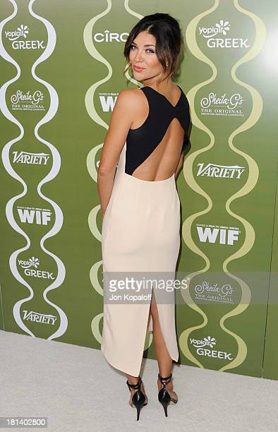 Actress Jessica Szohr arrives at the Variety And Women In Film Pre-Emmy Party at Scarpetta on September 20, 2013 in Beverly Hills, California.