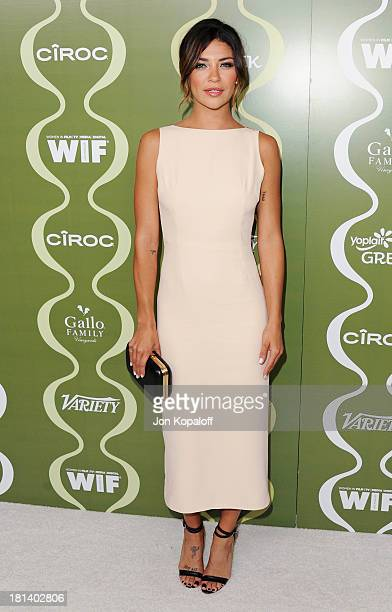 Actress Jessica Szohr arrives at the Variety And Women In Film PreEmmy Party at Scarpetta on September 20 2013 in Beverly Hills California