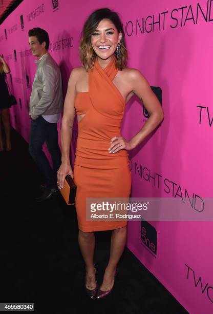 Actress Jessica Szohr arrives to the premiere of eOne Films' Two Night Stand at the TCL Chinese 6 Theatres on September 16 2014 in Hollywood...