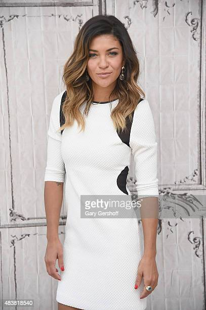 Actress Jessica Szohr attends AOL Build Presents Complications at AOL Studios In New York on August 13 2015 in New York City