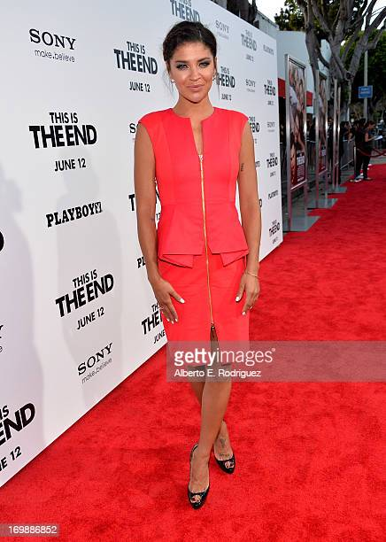 Actress Jessica Szohr attends Columbia Pictures' This Is The End premiere at Regency Village Theatre on June 3 2013 in Westwood California