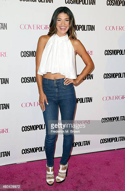 Actress Jessica Szohr attends Cosmopolitan's 50th Birthday Celebration at Ysabel on October 12 2015 in West Hollywood California