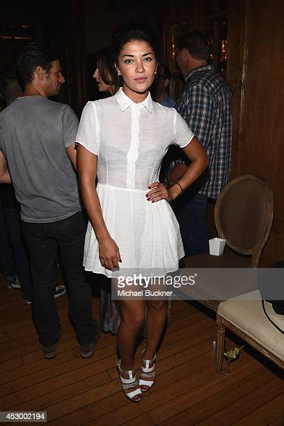 Actress Jessica Szohr attends For Love and Lemons annual SKIVVIES party cohosted by Too Faced and performance by The Shoe at The Carondelet House on...