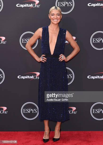 Actress Jessica Szohr attends The 2018 ESPYS at Microsoft Theater on July 18 2018 in Los Angeles California