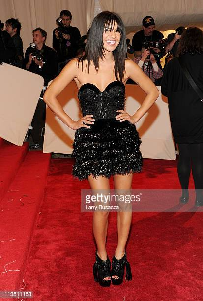 """Actress Jessica Szohr attends the """"Alexander McQueen: Savage Beauty"""" Costume Institute Gala at The Metropolitan Museum of Art on May 2, 2011 in New..."""