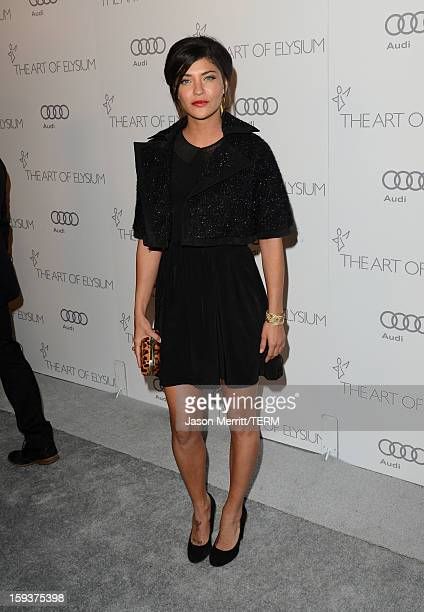 Actress Jessica Szohr attends The Art of Elysium's 6th Annual HEAVEN Gala presented by Audi at 2nd Street Tunnel on January 12 2013 in Los Angeles...