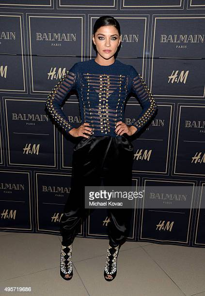 Actress Jessica Szohr attends the Balmain x HM Los Angeles VIP PreLaunch on November 4 2015 in West Hollywood California