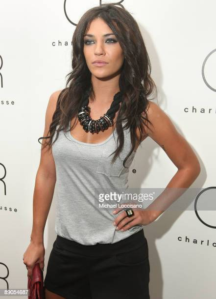 Actress Jessica Szohr attends the Charlotte Russe Fall 2009 launch event at Openhouse Gallery on July 15 2009 in New York City