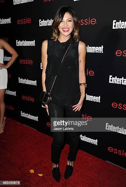Actress Jessica Szohr attends the Entertainment Weekly SAG Awards preparty at Chateau Marmont on January 17 2014 in Los Angeles California