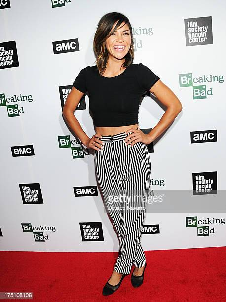 """Actress Jessica Szohr attends The Film Society Of Lincoln Center And AMC Celebration Of """"Breaking Bad"""" Final Episodes at The Film Society of Lincoln..."""
