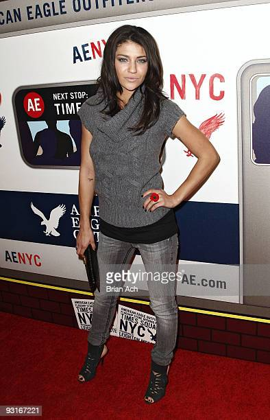Actress Jessica Szohr attends the grand opening celebration at American Eagle Outfitters, Times Square on November 17, 2009 in New York City.