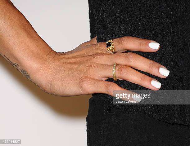 Actress Jessica Szohr attends the LoveGold event at Chateau Marmont on February 26, 2014 in Los Angeles, California.