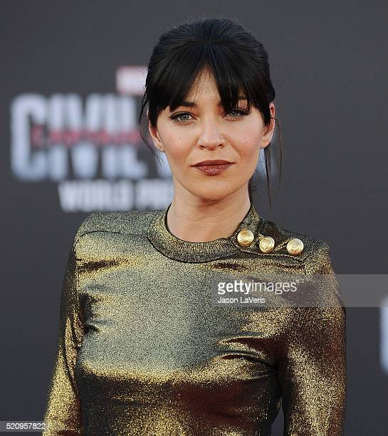 Actress Jessica Szohr attends the premiere of Captain America Civil War at Dolby Theatre on April 12 2016 in Hollywood California