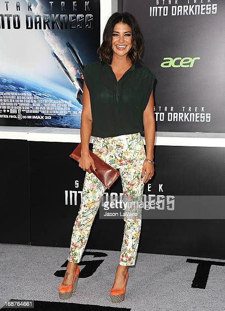 Actress Jessica Szohr attends the premiere of Star Trek Into Darkness at Dolby Theatre on May 14 2013 in Hollywood California