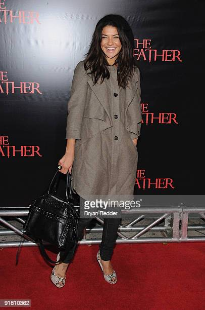 Actress Jessica Szohr attends the premiere of The Stepfather at the SVA Theater on October 12 2009 in New York City