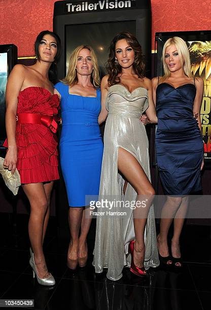 Actress Jessica Szohr Elisabeth Shue Kelly Brook and Riley Steele arrives at the premiere of The Weinstein Company Piranha 3D at the Mann's Chinese 6...