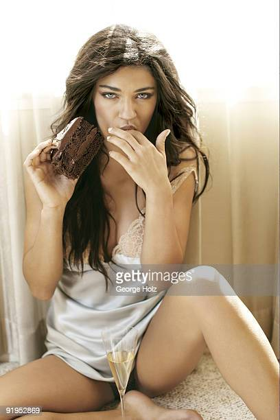 Actress Jessica Szohr poses at a portrait session for Men's Health Magazine on May 18 2009 in New York City PUBLISHED IMAGE