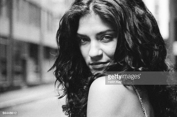Actress Jessica Szohr poses for a portrait session on October 19 New York NY Published Image