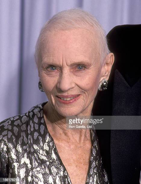 Actress Jessica Tandy attends the 63rd Annual Academy Awards on March 25 1991 at Shrine Auditorium in Los Angeles California