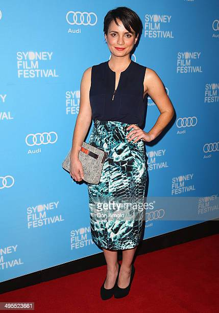 Actress Jessica Tovey poses at the Sydney Film Festival opening night at the State Theatre on June 4 2014 in Sydney Australia