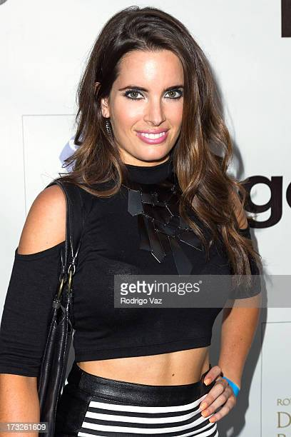Actress Jessica Uberuaga arrives at The Fountain Of Youth White Party to celebrate GENA and the launch of Michael Hogg's book The Agenostic Man at...