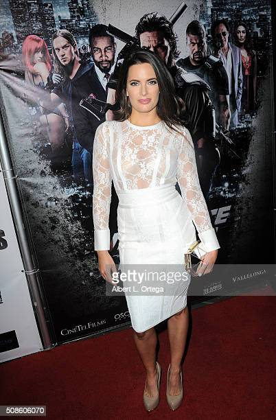 Actress Jessica Uberuaga arrives for the Screening Of Oscar Gold Productions' Vigilante Diaries held at ArcLight Hollywood on February 4 2016 in...