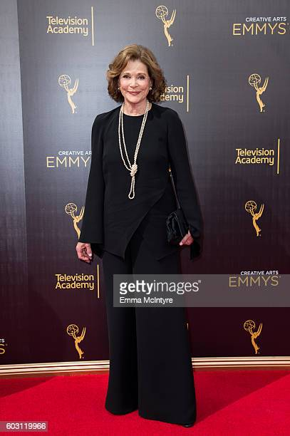 Actress Jessica Walter arrives at the Creative Arts Emmy Awards at Microsoft Theater on September 10 2016 in Los Angeles California