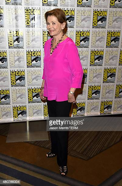 Actress Jessica Walter attends 'Archer' Press Room during ComicCon International 2015 at Hilton Bayfront on July 10 2015 in San Diego California