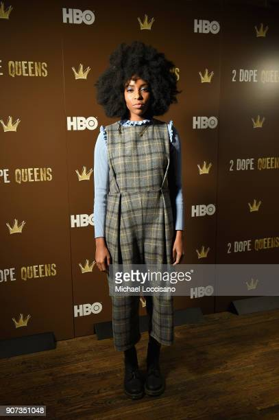 Actress Jessica Williams attends HBO's '2 Dope Queens' Winter Soiree during Sundance at Riverhorse On Main on January 19 2018 in Park City Utah